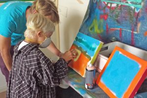 kinderfeest graffiti art