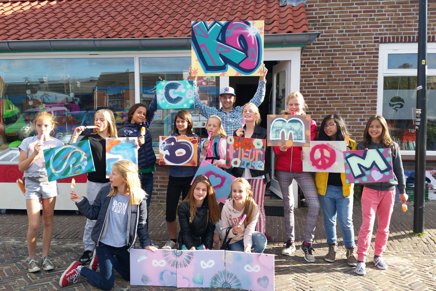 kinderfeest graffiti