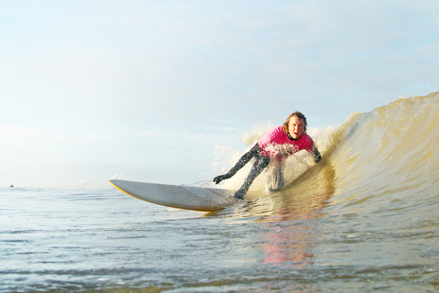 surfwedstrijd longboard classic