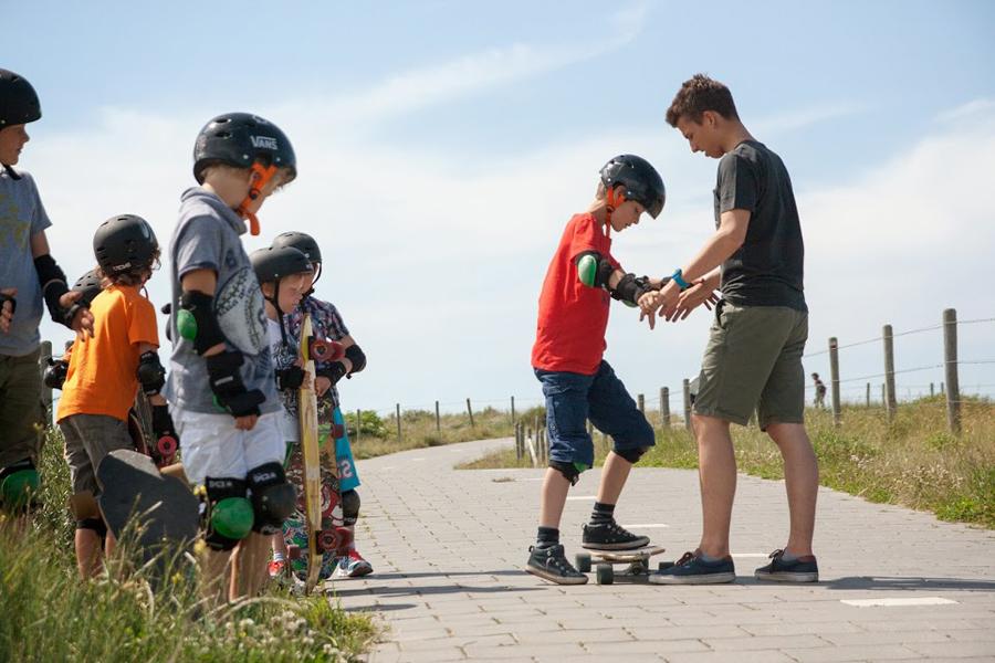 kinderfeest longboarden