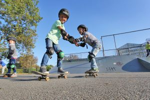 kinderfeest skateboarden