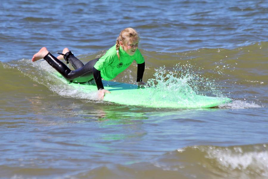 familie surfen