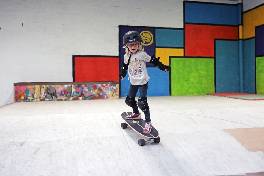 kinderfeest indoor skateboarden