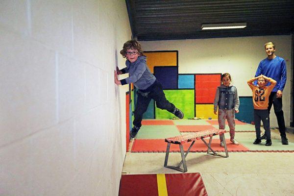 Kinderfeestje Freerunnen Binnen