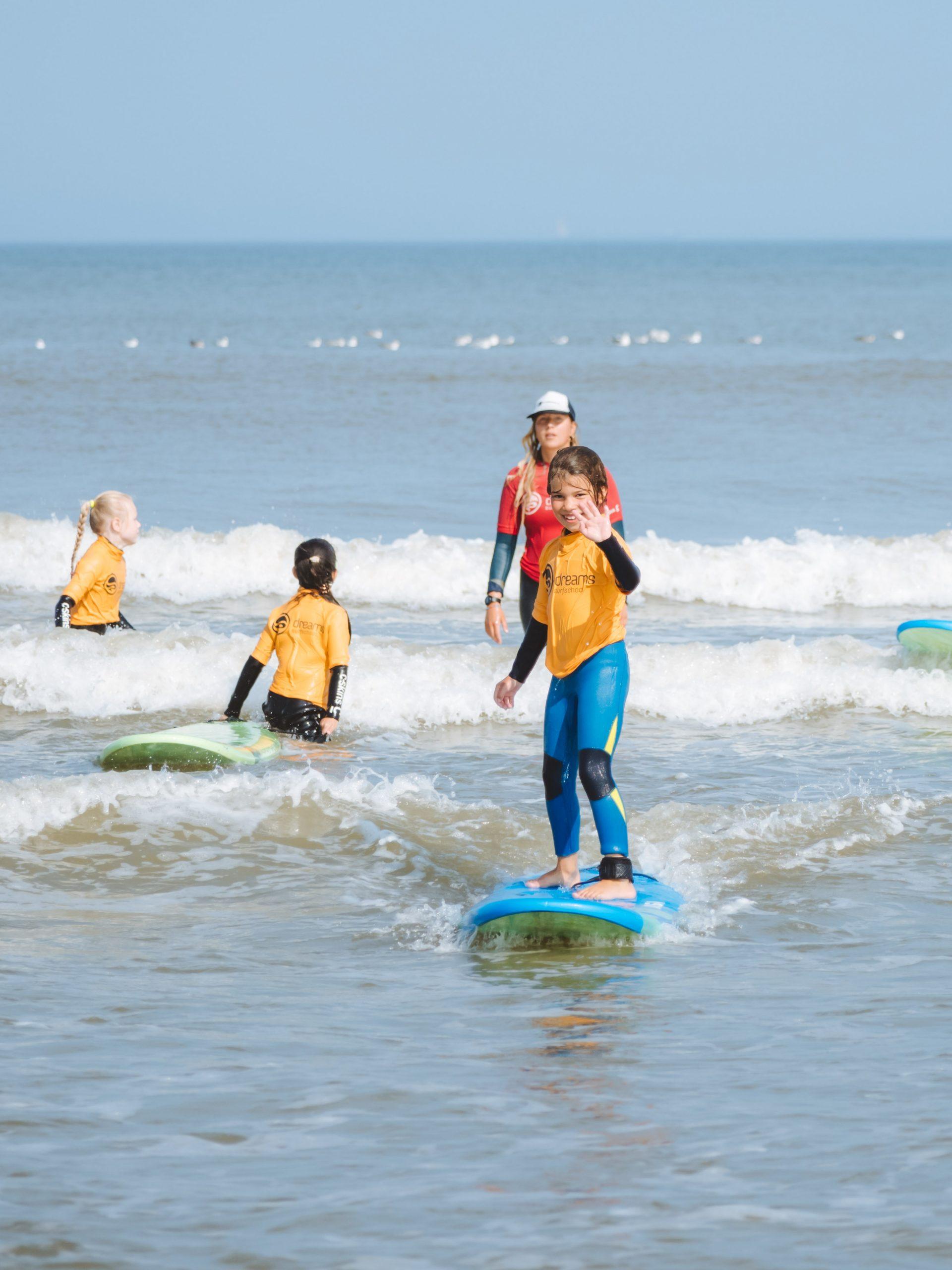 SurfGuppies bij Dreams Surfschool