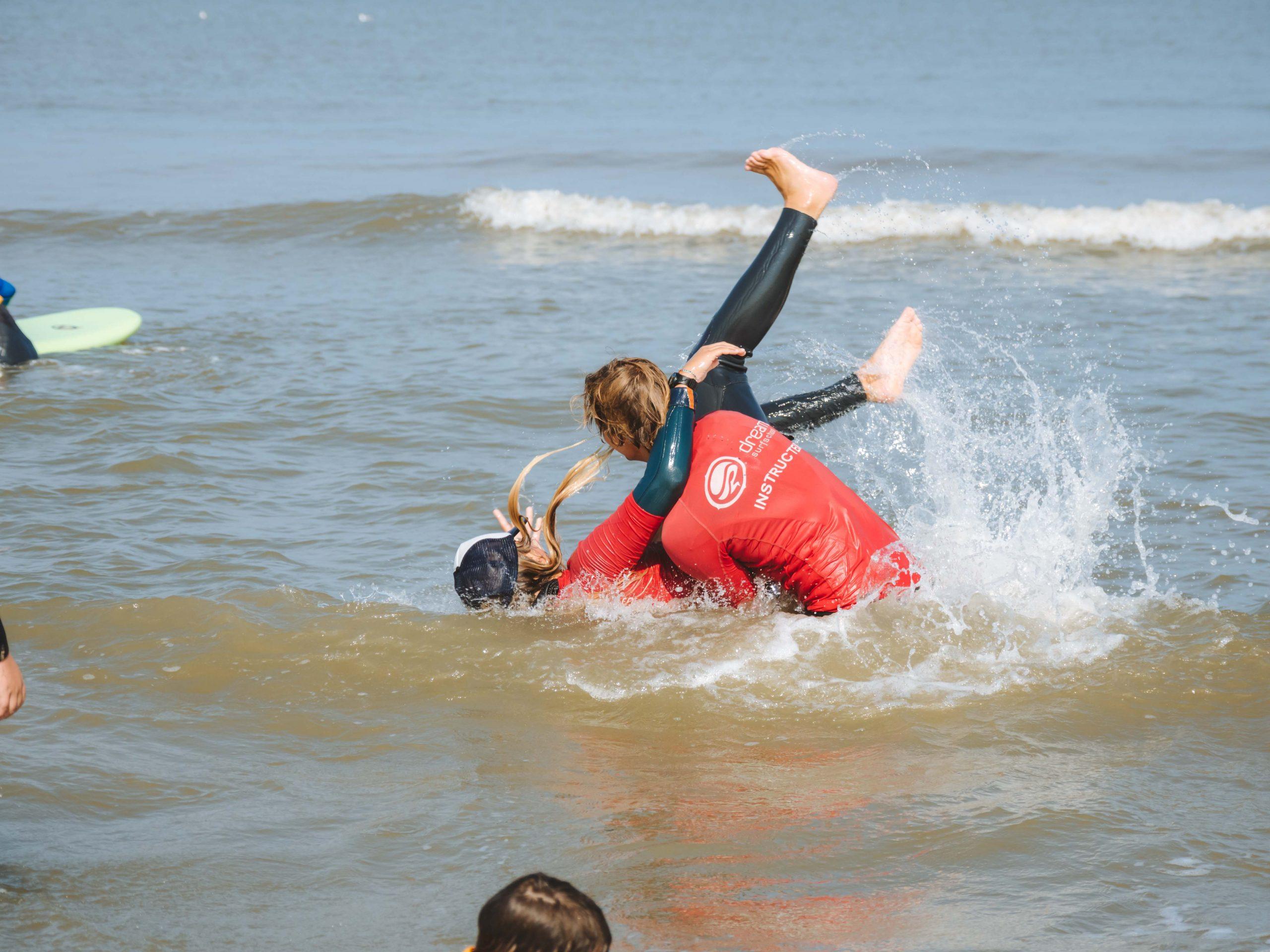 Surfkids bij Dreams Surfschool