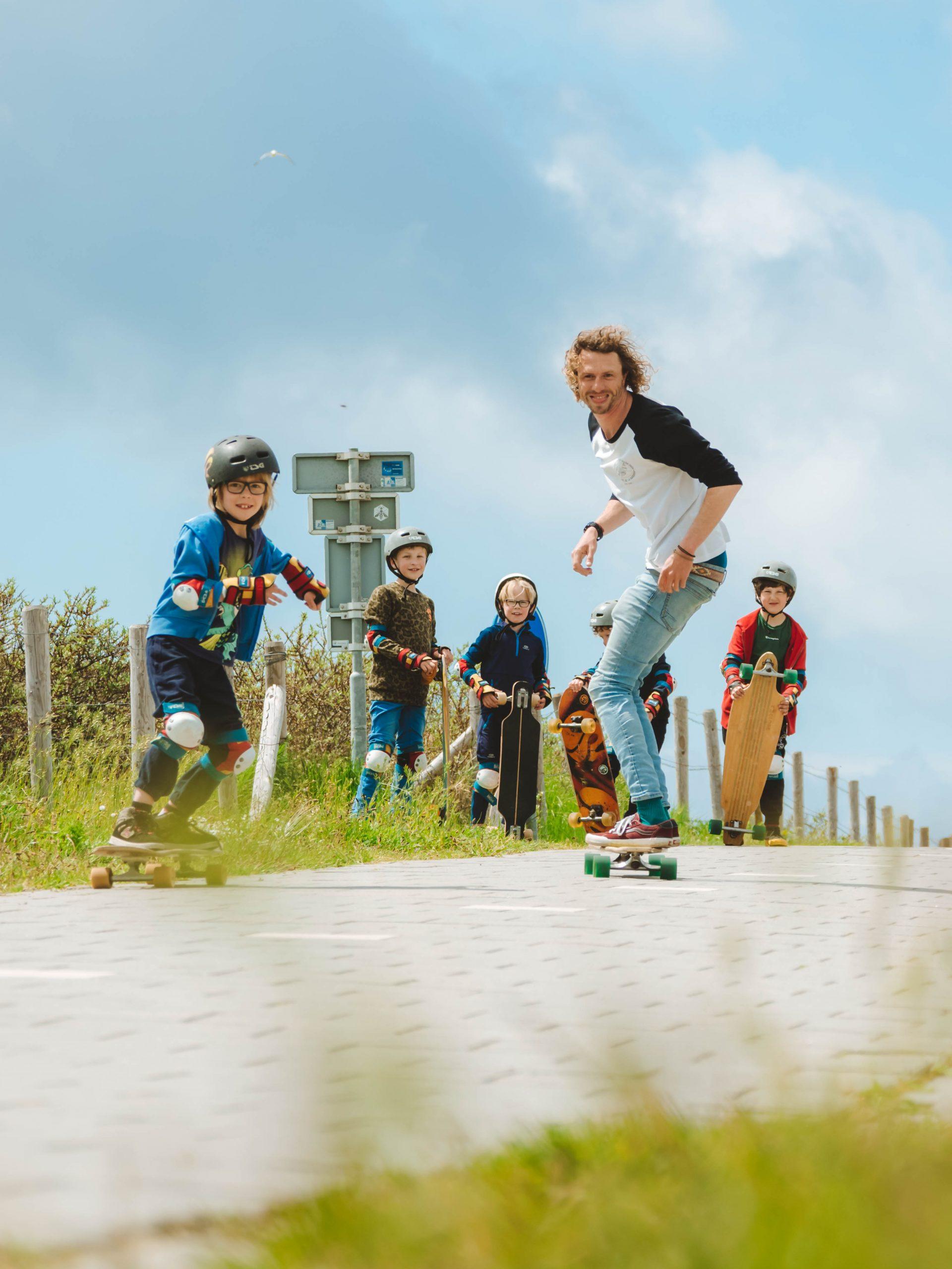 kinderfeestje longboarden